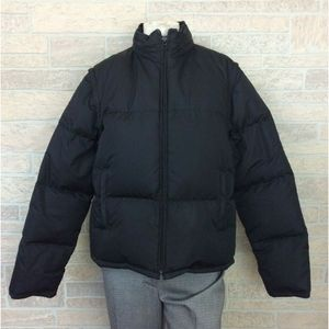 J. Crew Puffer Coat Removeable Sleeves Hood Large